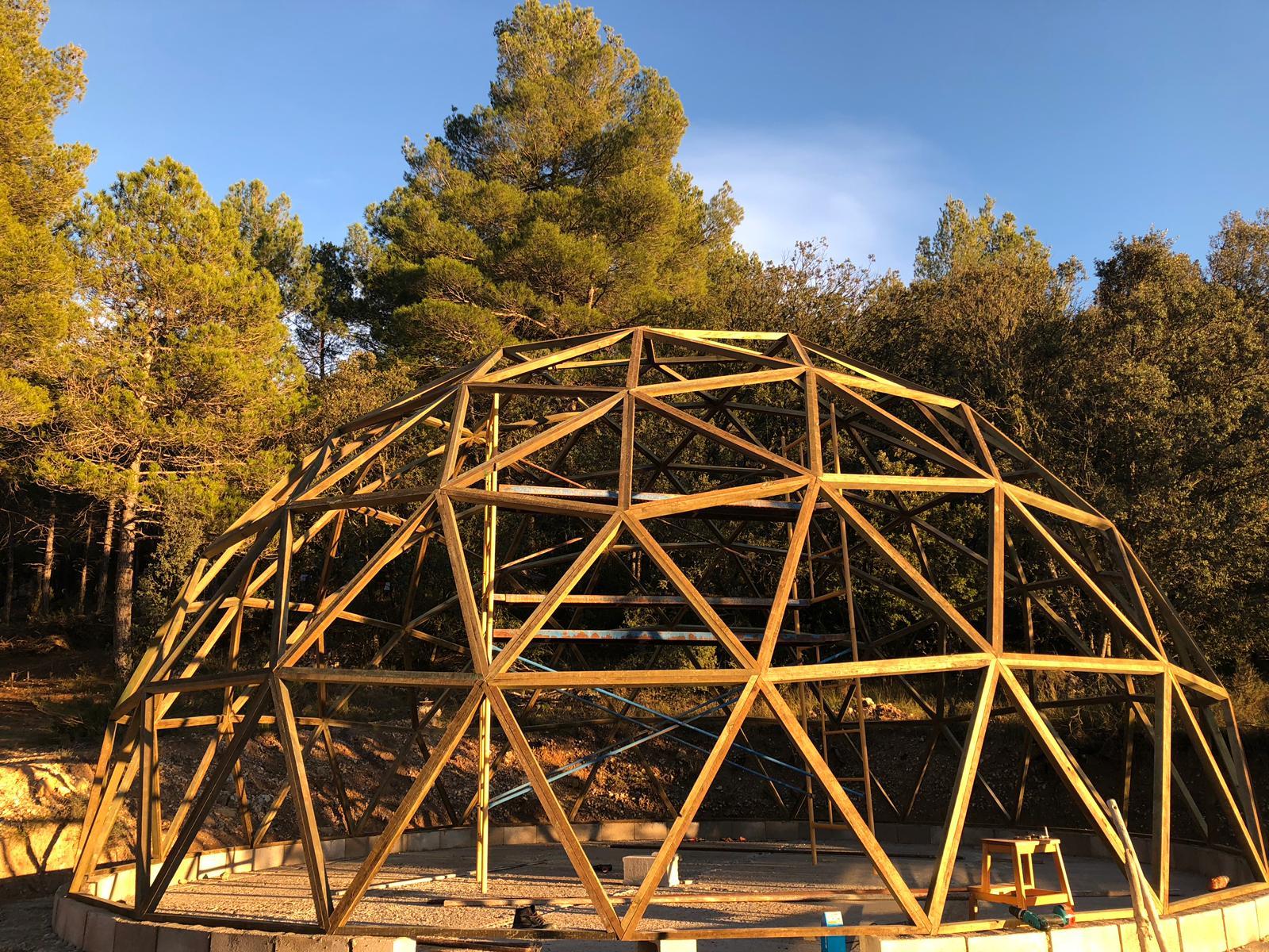 La cúpula casi terminada